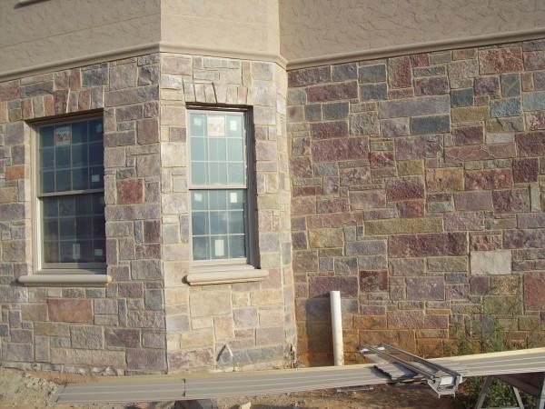 fake stone facing