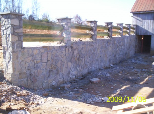 Cd Construction 187 Blog Archive 187 Stone Retaining Wall Example